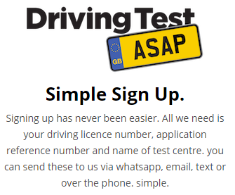 Short Notice Driving Test Date Worksop available