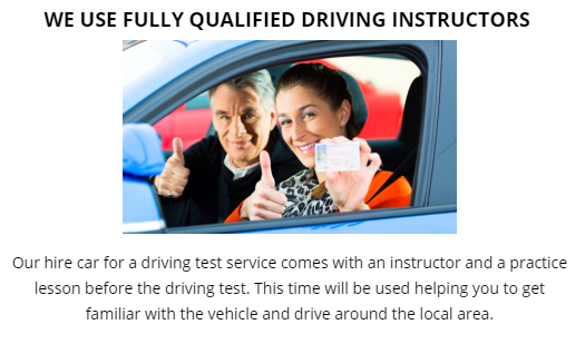 Driving Test Car Hire Wood Green