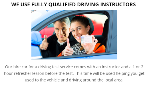 Driving Test Car Hire Brentwood